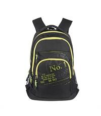 RU-518-1 Рюкзак школьный Grizzly черный-салатовый