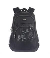 RU-518-1 Рюкзак школьный Grizzly черный-серый