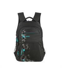 RU-518-5 Рюкзак школьный Grizzly черный-бирюза