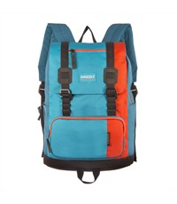 RU-619-2 Рюкзак школьный Grizzly оранжевый - голубой - синий