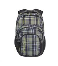 RU-704-2 Рюкзак школьный Grizzly клетка оливковая