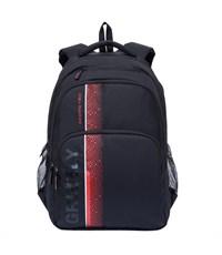 RU-707-1 Рюкзак школьный Grizzly черный-красный