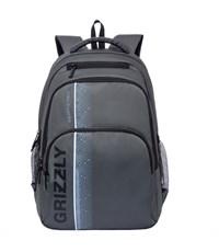 RU-707-1 Рюкзак школьный Grizzly темно-серый
