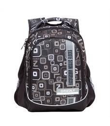 RU-707-5 Рюкзак школьный Grizzly черный Mosaic blocks