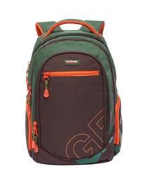 RU-711-2 Рюкзак школьный Grizzly коричневый-хаки