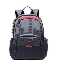 RU-713-2 Рюкзак школьный Grizzly черный-красный