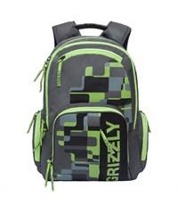 RU-719-1 Рюкзак школьный Grizzly темно-серый