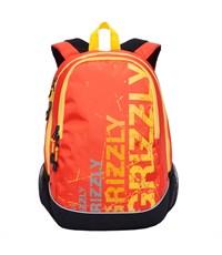 RU-721-1 Рюкзак школьный Grizzly черный - оранжевый
