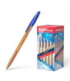 Ручка шариковая Erich Krause R-301 Amber Stick 0.7 мм, синий
