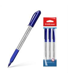 Ручка шариковая Erich Krause U-19 Ultra Glide Technology 0.6 мм, синий (в пакете по 3 шт.)