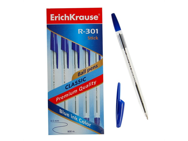 Ручка шариковая Erich Krause R-301 Classic синий 1.0 мм
