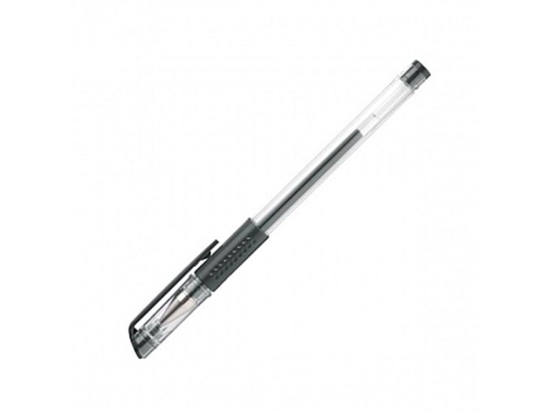Ручка гелевая Erich Krause G-Base Plus, черная, резин. упор