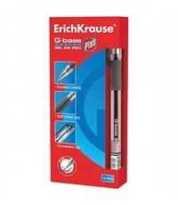 Фото 2. Ручка гелевая Erich Krause G-Base Plus, черная, резин. упор