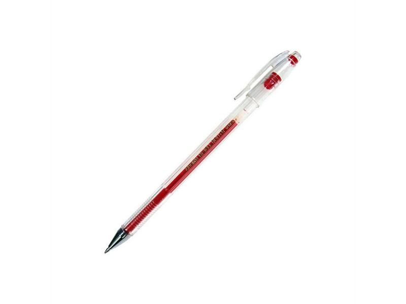 Ручка гелевая CROWN HJR-500 красная 0,5мм