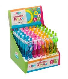 """Фото 3. Ручка шариковая автоматическая ArtSpace """"Mini"""" синяя, 0,7мм, грип, ассорти, штрихкод"""
