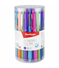 """Фото 2. Ручка шариковая автоматическая Berlingo """"Starlight RT"""", синяя, 0,7мм, корпус ассорти"""