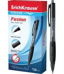Ручка шариковая автоматическая Erich Krause Fusion Ultra Glide Technology, черная, 0.7мм