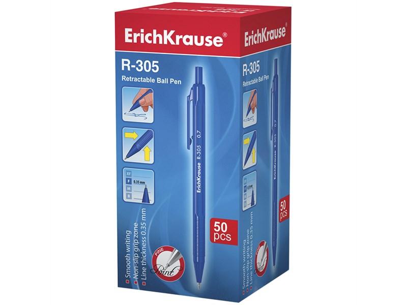 """Ручка шариковая автоматическая Erich Krause """"R-035"""" синяя, 0,7мм"""