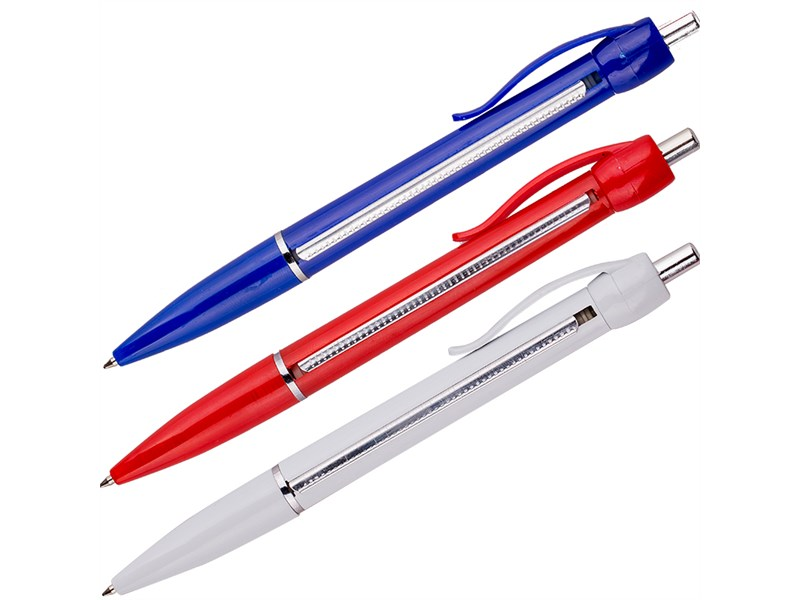"""Ручка шариковая автоматическая OfficeSpace """"Шпаргалка"""" синяя, 0,7мм, ассорти"""