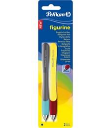 Ручка шариковая автоматическая Pelikan Figurine, 2 шт, синяя