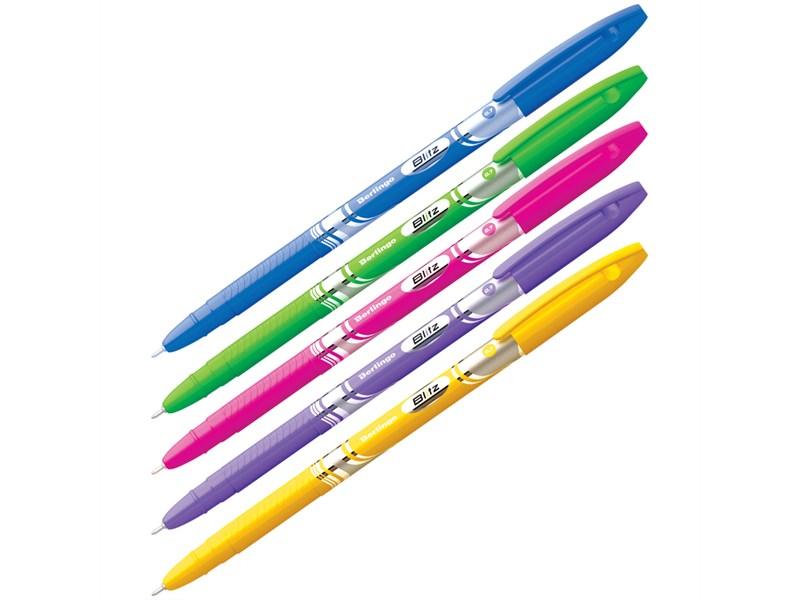 """Ручка шариковая Berlingo """"Blitz"""" синяя, 0,7мм"""