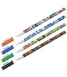 """Ручка шариковая Berlingo """"Funline. Traditional,"""" синяя, 0,7мм, рисунок на корпусе, ассорти"""