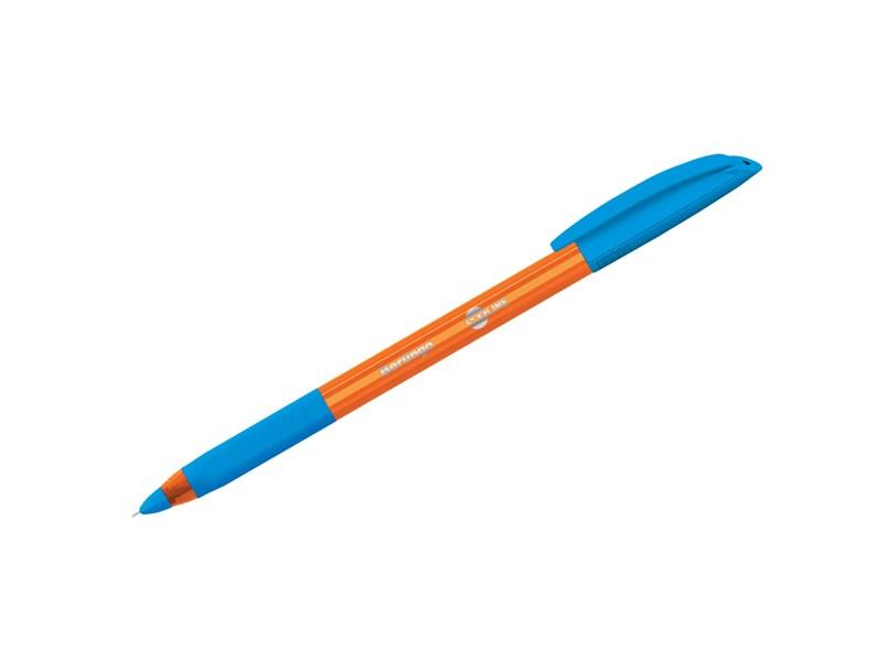 """Ручка шариковая Berlingo """"Skyline"""", светло-синяя, 0,7мм, игольчатый стержень, грип"""