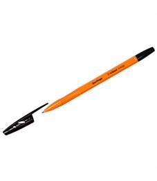 """Ручка шариковая Berlingo """"Tribase Orange"""", черная, 0,7мм"""