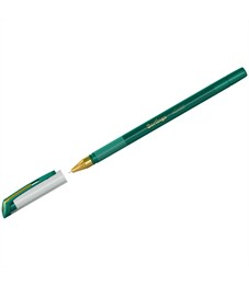 """Ручка шариковая Berlingo """"xGold"""" зеленая, 0,7мм, игольчатый стержень, грип"""