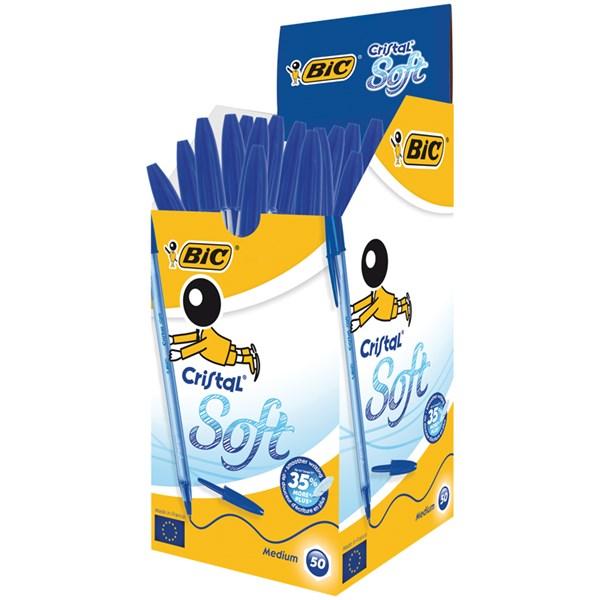 """Ручка шариковая Bic """"Cristal Soft"""" синяя, 1,2мм"""