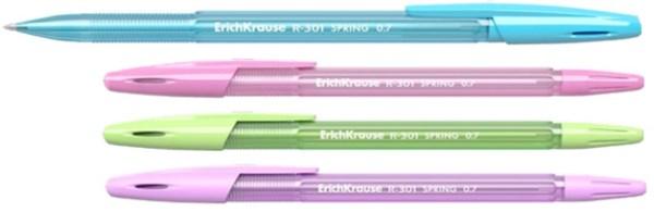 Ручка шариковая Erich Krause R-301 SPRING 0.7 Stick синяя