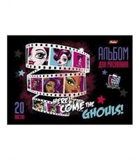 """Фото 4. Альбом для рисования Hatber """"Monster High"""", А4, 20 листов"""