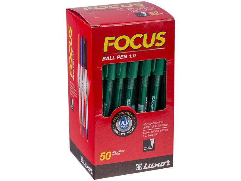 """Ручка шариковая Luxor """"Focus Icy"""" зеленая, 1,0мм"""