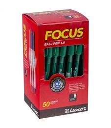 """Фото 3. Ручка шариковая Luxor """"Focus Icy"""" зеленая, 1,0мм"""