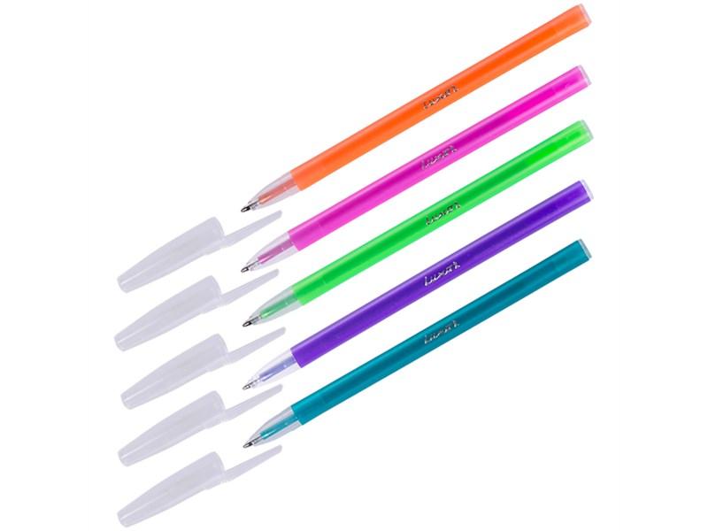 """Ручка шариковая Luxor """"Stick Neon"""" синяя, 1 мм"""