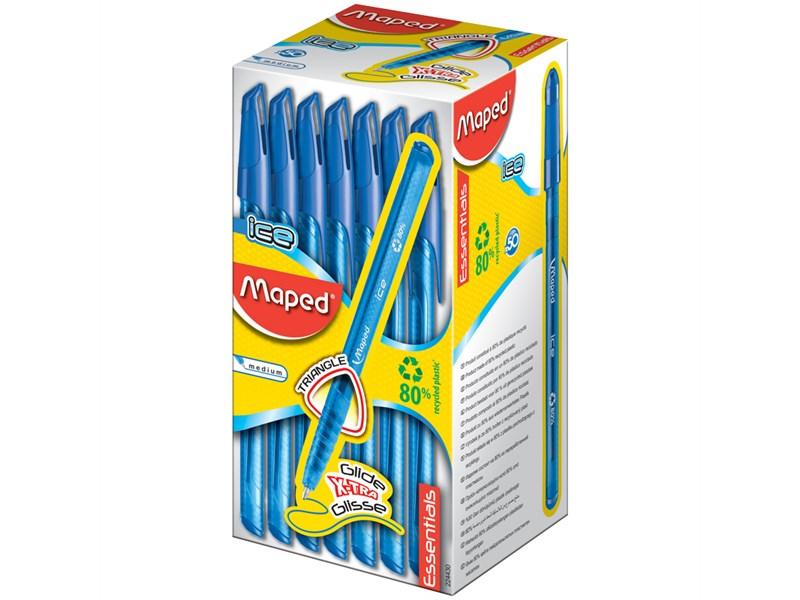 """Ручка шариковая Maped """"Green Ice"""" синяя, 1,0мм, трехгран."""