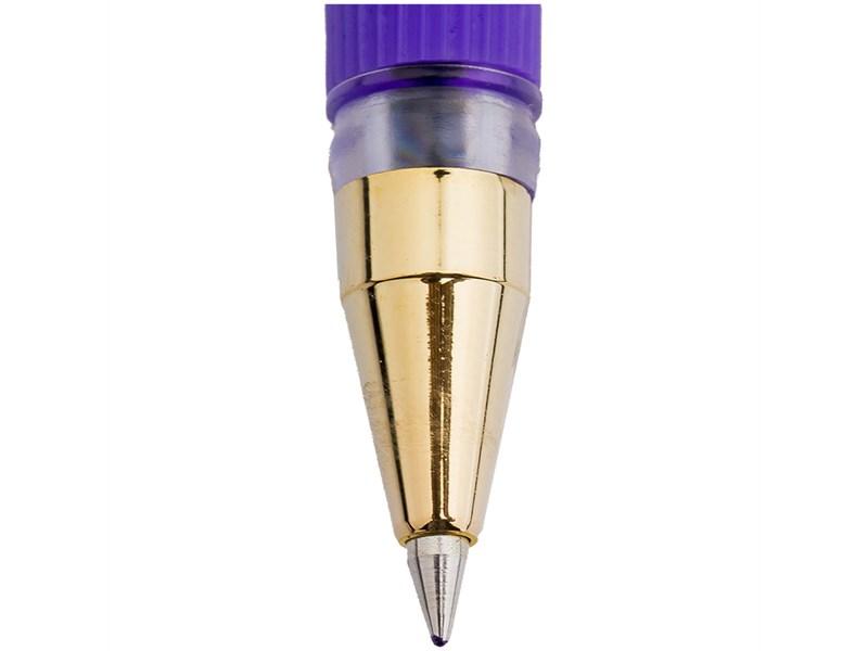 """Ручка шариковая MunHwa """"MC Gold"""" фиолетовая, 0,5мм, грип, штрих-код"""