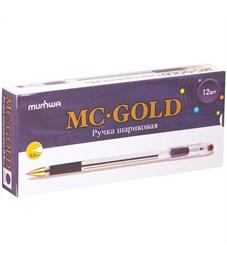"""Фото 5. Ручка шариковая MunHwa """"MC Gold"""" фиолетовая, 0,5мм, грип, штрих-код"""