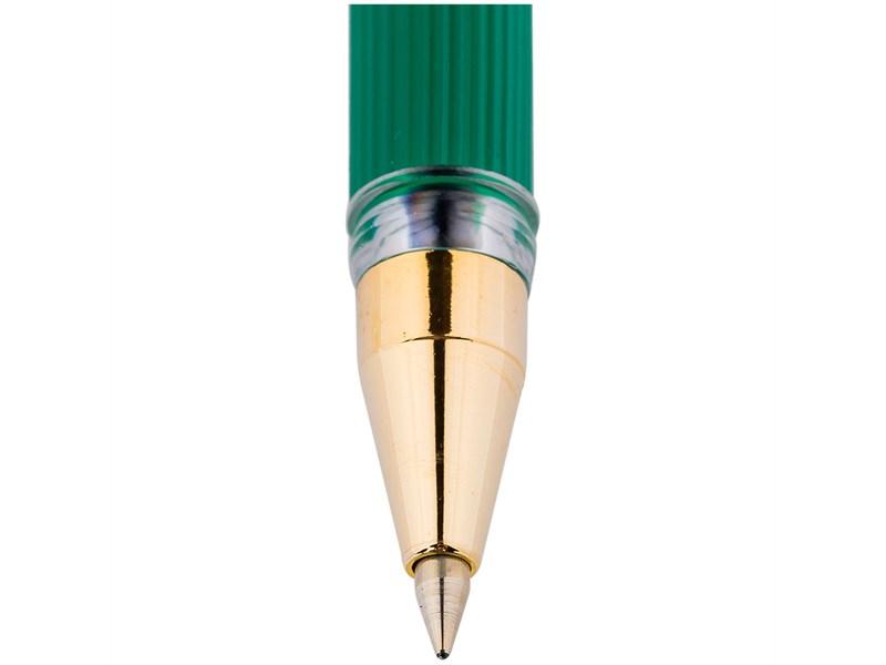 """Ручка шариковая MunHwa """"MC Gold"""" зеленая, 0,5мм, грип, штрих-код"""
