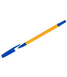 """Ручка шариковая OfficeSpace """"907 Orange"""" синяя, 1,0мм, желтый корпус"""