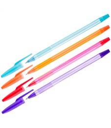 """Ручка шариковая OfficeSpace """"Fluo"""" синяя, 0,5мм, ароматическая, корпус ассорти"""