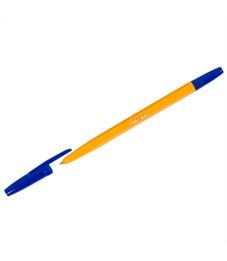 Ручка шариковая OfficeSpace синяя, 1,0мм, желтый корпус
