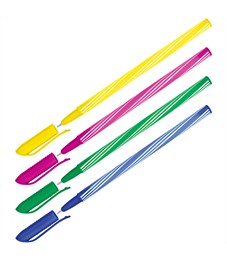 "Фото 1. Ручка шариковая OfficeSpace ""Spiny"" синяя, 0,7мм, корпус ассорти, штрихкод"
