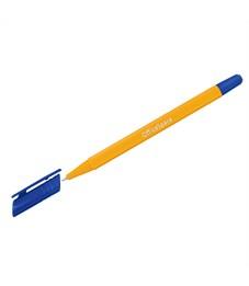 """Ручка шариковая OfficeSpace """"xTrio"""" синяя, 0,7мм, трехгр., желтый корпус, на масл. основе, штрихкод"""