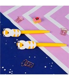 """Ручка шариковая с большим фигурным клипом """"Каваи"""", синяя"""