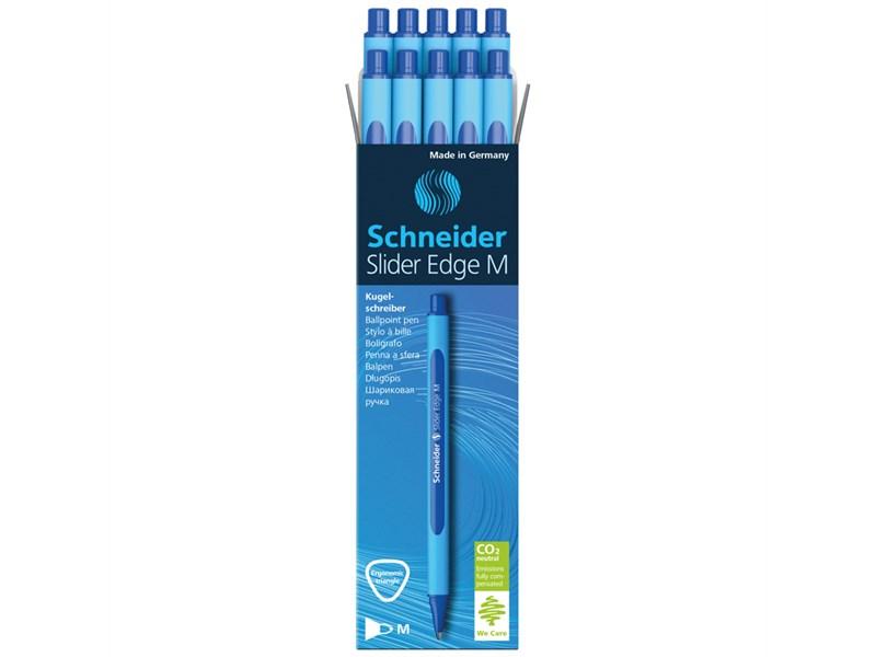 """Ручка шариковая Schneider """"Slider Edge M"""" синяя, 1,0мм, трехгранная"""
