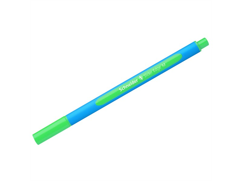 """Ручка шариковая Schneider """"Slider Edge M"""" зеленая, 1,0мм, трехгранная"""