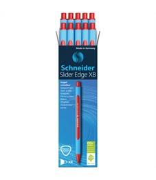 "Фото 4. Ручка шариковая Schneider ""Slider Edge XB"" красная, 1,4мм, трехгранная"