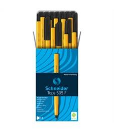"""Фото 2. Ручка шариковая Schneider """"Tops 505 F"""" черная, 0,8мм, оранжевый корпус"""