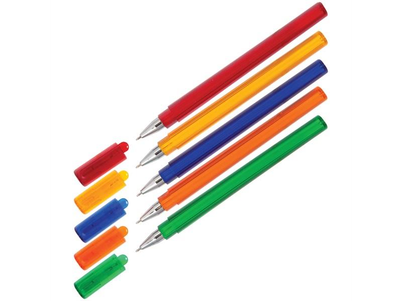 """Ручка шариковая Союз """"Tetra"""" синяя, 0,7мм, трехгранн., тонированный корпус"""